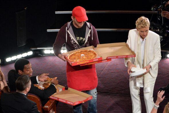 Todos rompieron la dieta en esta entrega del Oscar. En especial Chiwetel...