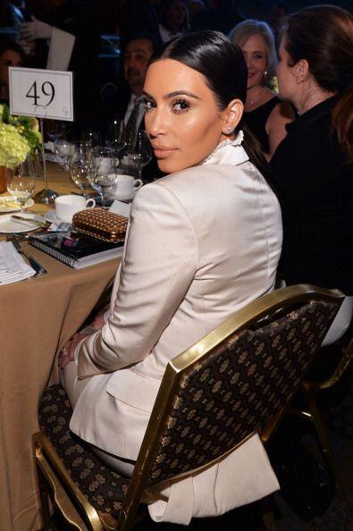 En materia de maquillaje Kim se inclinó por tonos naturales y elegantes.