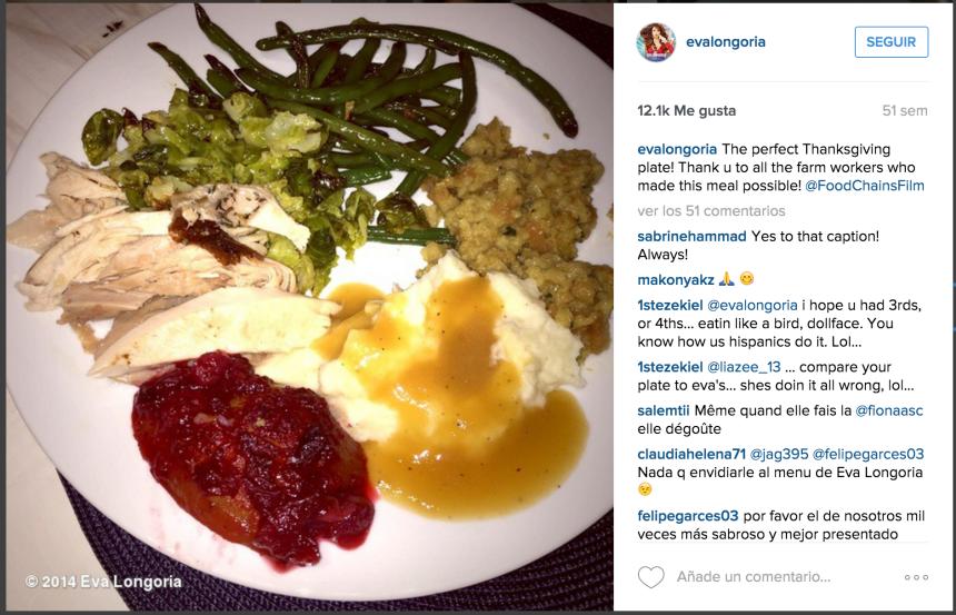Celebridades en Thanksgiving