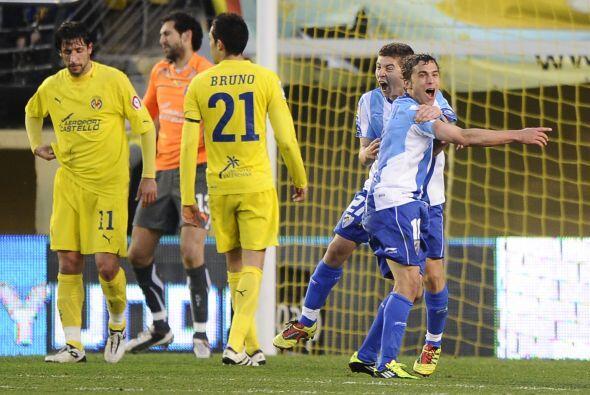 Al minuto 82 llegó la recompensa para el Málaga con el tanto del uruguay...