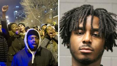Protesta Chicago y Malcolm London