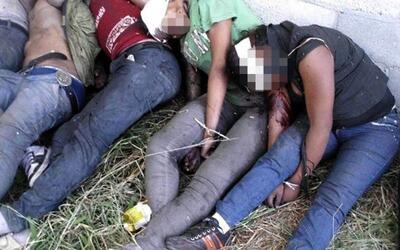 Las autoridades mexicanas atribuyeron a narcos la matanzas de 72 indocum...