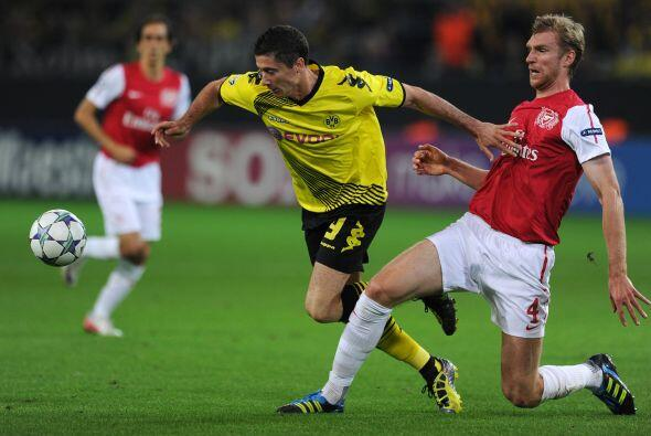Arsenal visitó al Borussia Dortmund.