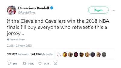 Jugador de Browns regalará casi un millón de jerseys si Cavaliers son campeones