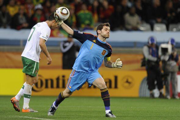 El portero Iker Casillas, compañero de Ronaldo en el Real Madrid, nunca...