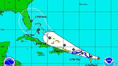 Tormenta Tropical Erika jueves 5:00 pm