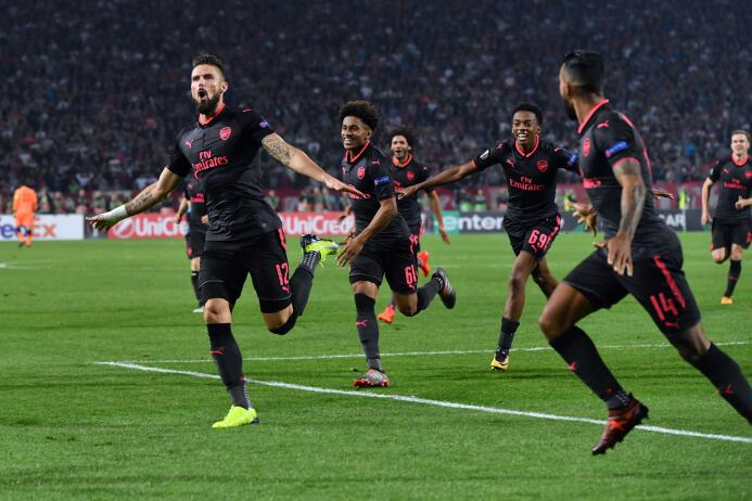 Estrella Roja 0-1 Arsenal: Olivier Giroud salvó a los Gunners de un empa...