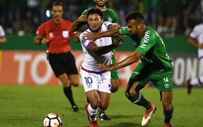 Chapecoense vs. Nacional en la Copa Libertadores 2018.