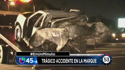 En Un Minuto Houston: Investigan un accidente vial en La Marque que cobr...