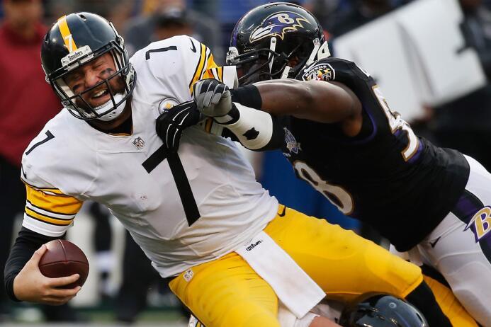 """Los Steelers tuvieron """"un día para el olvido"""" y perdieron ante Baltimore..."""