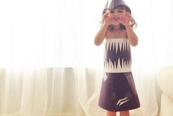 Vestido de Tiburón, inspirado en una visita al acuario.   Crédito: Insta...