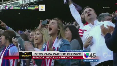 Encuentro entre USA y Argentina enciende Houston