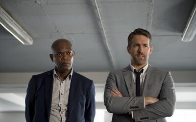 "Samuel L. Jackson, izquierda, y Ryan Reynolds en ""The Hitman's Body..."