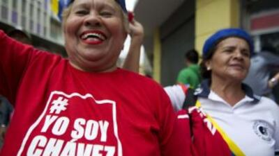 Partidarios de Hugo Chávez.
