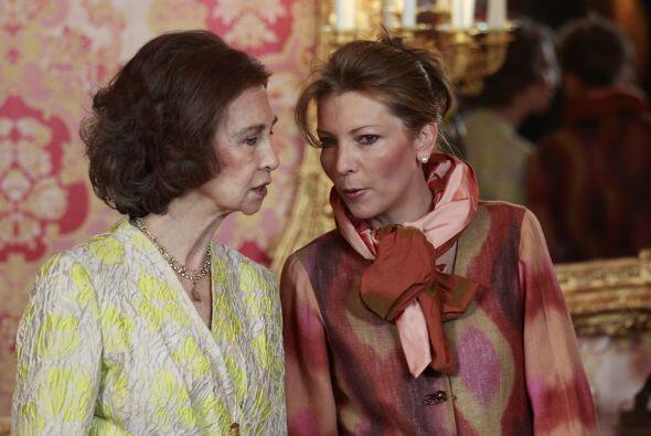 La Reina Sofía y la primera dama de Colombia, Clemencia Rodríguez de San...