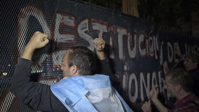 Las protestas son comunes en Argentina, pero la polarización pol&...