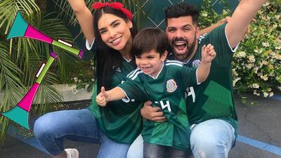 Todo un experto: así tocó el hijo de Alejandra Espinoza la corneta para celebrar el triunfo del Tri