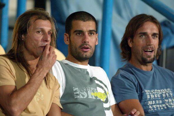 Guardiola, Caniggia y Batistuta compartieron canchas en Catar.