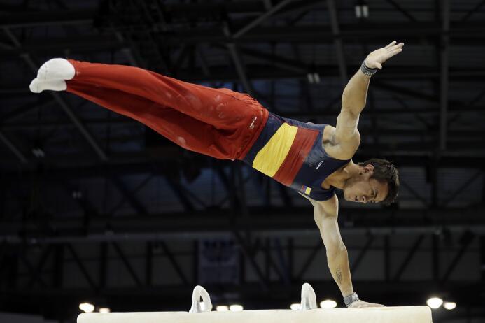 El gimnasta colombiano Jossimar Calvo pudo tomarse desquite en los Juego...