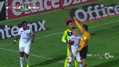 ¡Tarjeta Roja! Luis Caicedo recibe la segunda amarilla y se va del juego