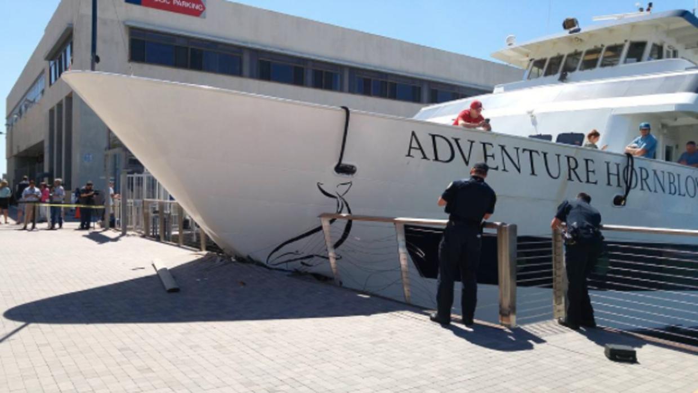 Siete personas resultaron heridas en el accidente del crucero.