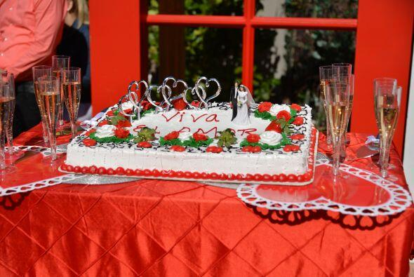 Después de la ceremonia, este banquete los esperaba para celebrar su unión.