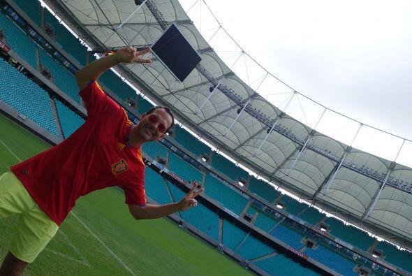 Esta ocasión, el conductor se coló al Estadio Fonte Nova a...