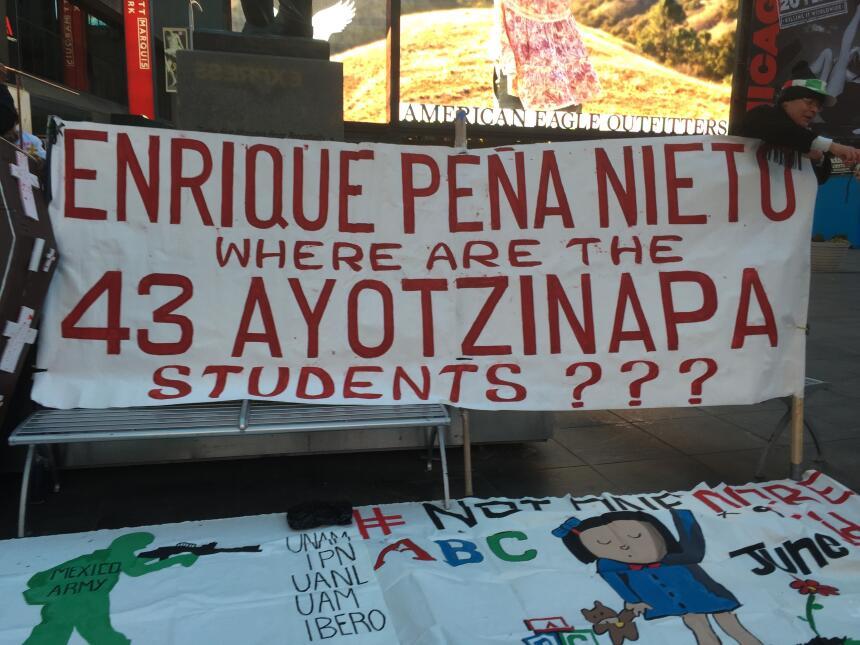 Piden justicia para los 43 estudiantes de magisterio