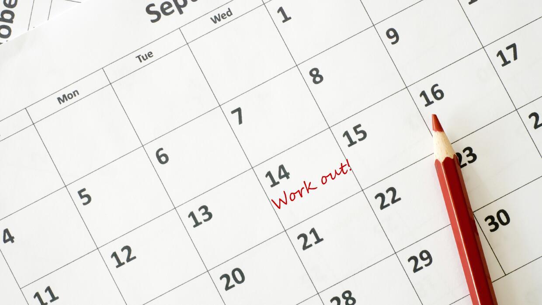 Arma un calendario para ejercitarte