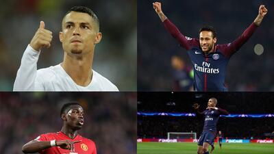 En fotos: Los jugadores que conforman el 11 más caro de la historia