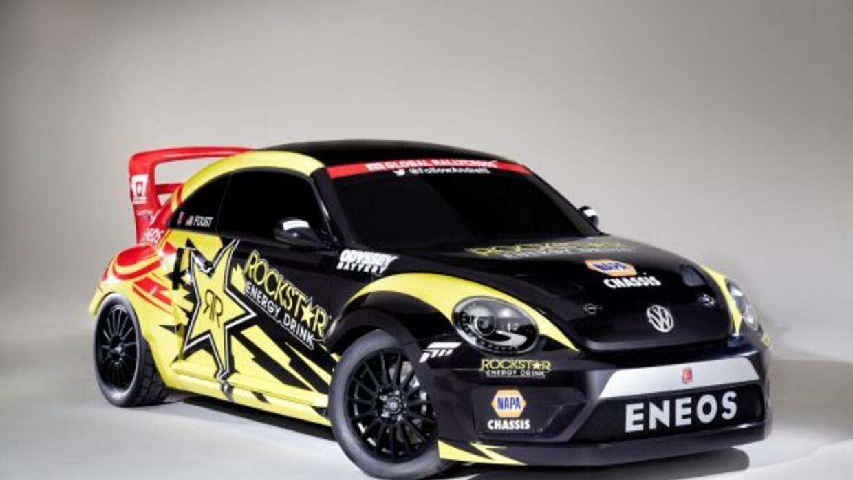 ElBeetle Rallycross utiliza la plataforma del Polo WRC con un motor de...