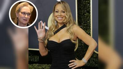 Mariah Carey le quitó la silla a Meryl Streep durante la entrega...