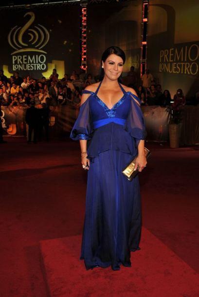 Olga Tañón, siempre elegante y sensual.