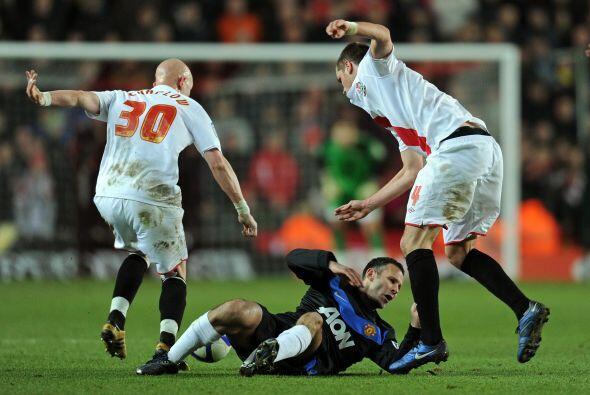 Manchester United se enfrentó al Southampton por la Copa FA de Inglaterra.