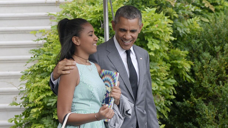 El presidente y su hija menor, Sasha