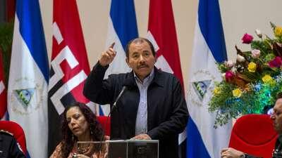 El presidente Ortega, en una foto de archivo durante el acto del 38 aniv...