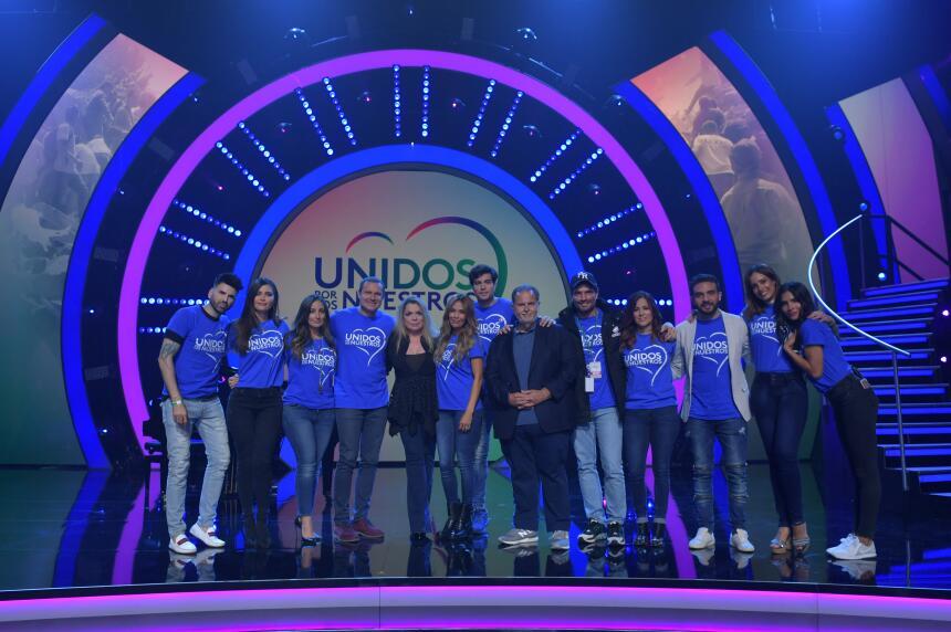 Los conductores de los programas de Univision no faltaron a 'Unidos...