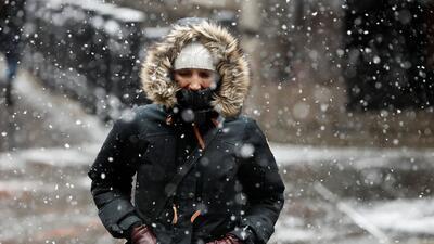 En fotos: fuertes nevadas en el norte de Estados Unidos