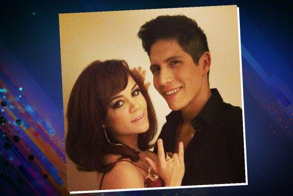 Ana Cristina y Fernando antes de subir al escenario.