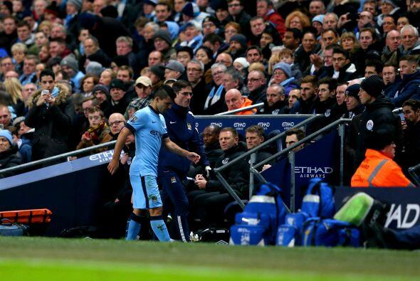 El delantero argentino del Manchester City Sergio Agüero, máximo goleado...