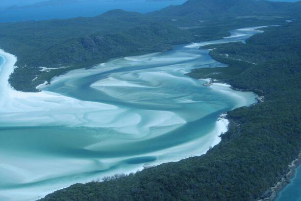 La playa Whitehaven en la isla de Whitsunday en Australia