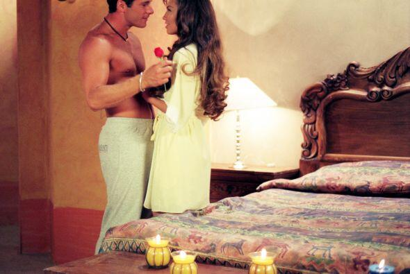 Y se dieron románticos besos.