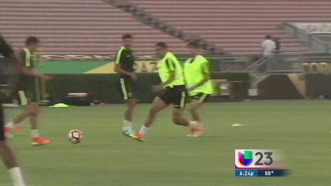 Comienzan entrenamientos de Brasil en Orlando
