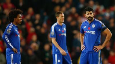 Los jugadores del Chelsea no pueden creer el resultado