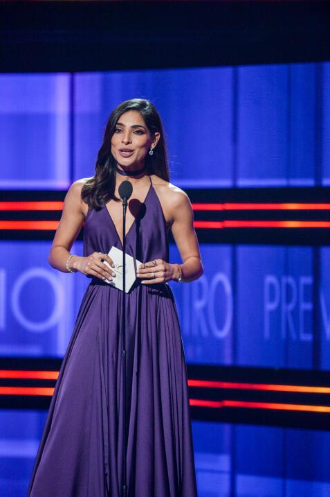 La bella Alejandra Espinoza presentó a los nominados en la categoría Art...