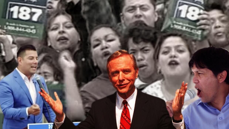 El gobernador Pete Wilson explotó el miedo a los indocumentados para con...