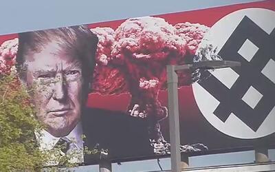 Valla publicitaria continúa generando amenazas y acciones desafiantes po...