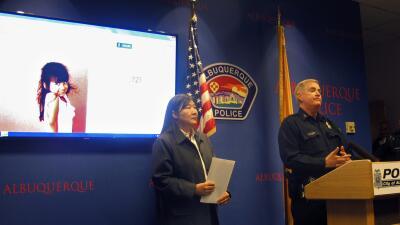 Rueda de prensa para informar sobre el tiroteo donde falleció Lilly García.