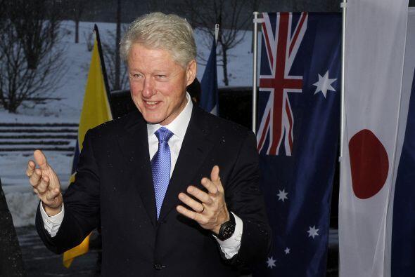 El ex presidente Bill Clinton se mostró muy agradable en su llegada a la...