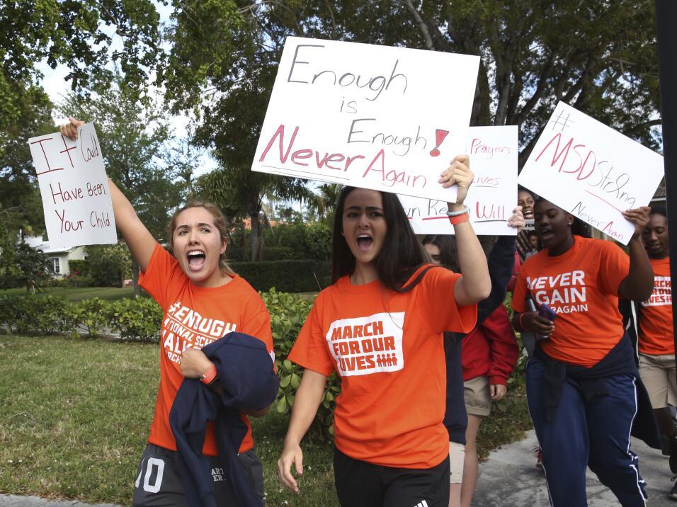 Miami, Florida. Los estudiantes de la escuela privada Miami County Day S...